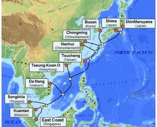 """连接亚洲七国的光纤海底电缆""""APG""""交付"""